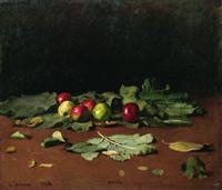Яблоки и листья (И.Е, Репин, 1879 г.)