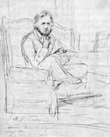 М.И. Глинка.Эскиз для картины. Рисунок.1871