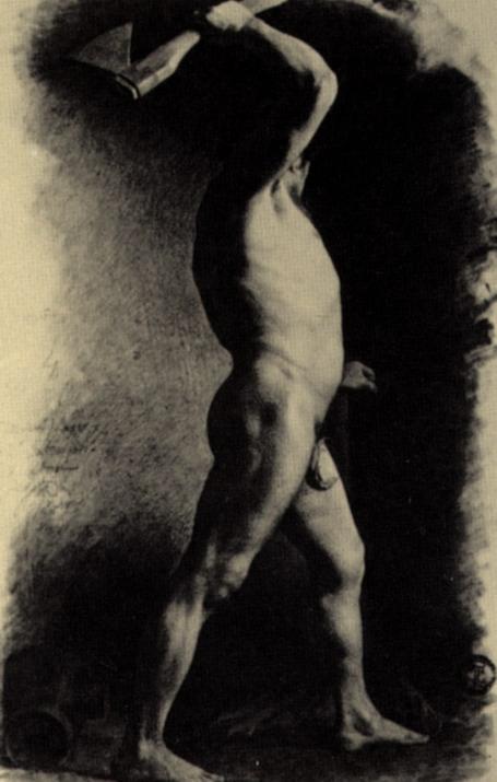 Натурщик с топором. 1865
