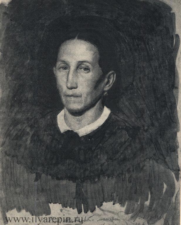 В. Д. Шевцова, теша Репина. Мокрый соус. 1865. ГРМ