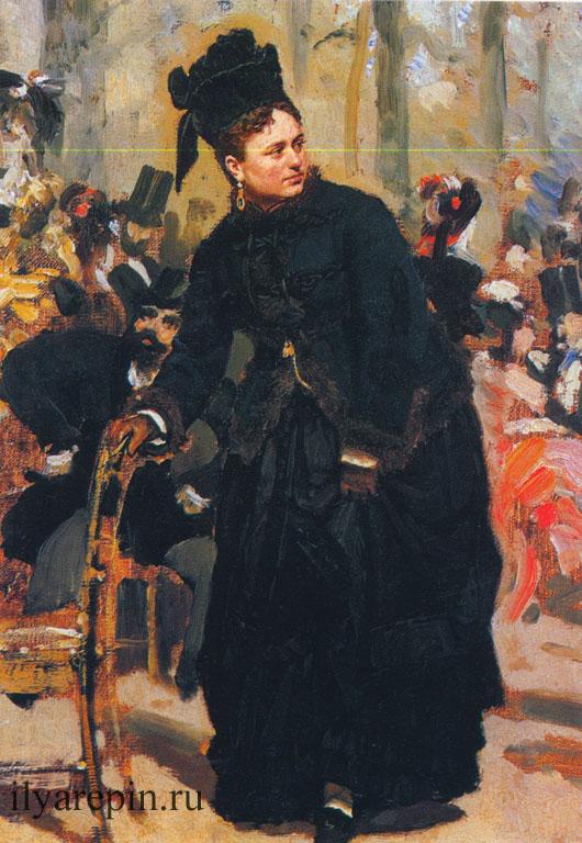 Дама, опирающаяся на спинку стула. 1875