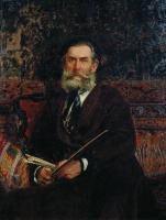 Портрет А.П.Боголюбова. 1876